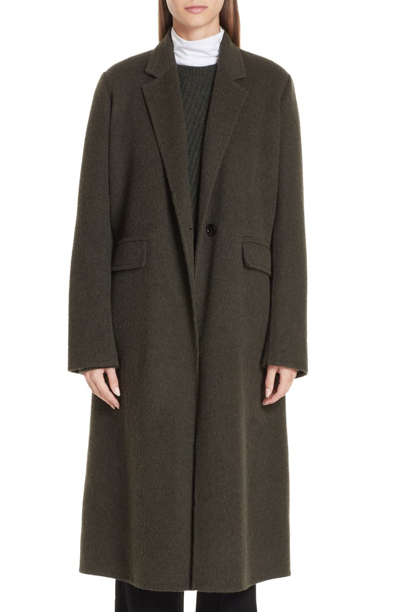 VINCE Long Wool Alpaca Blend Coat, Main, color, 341