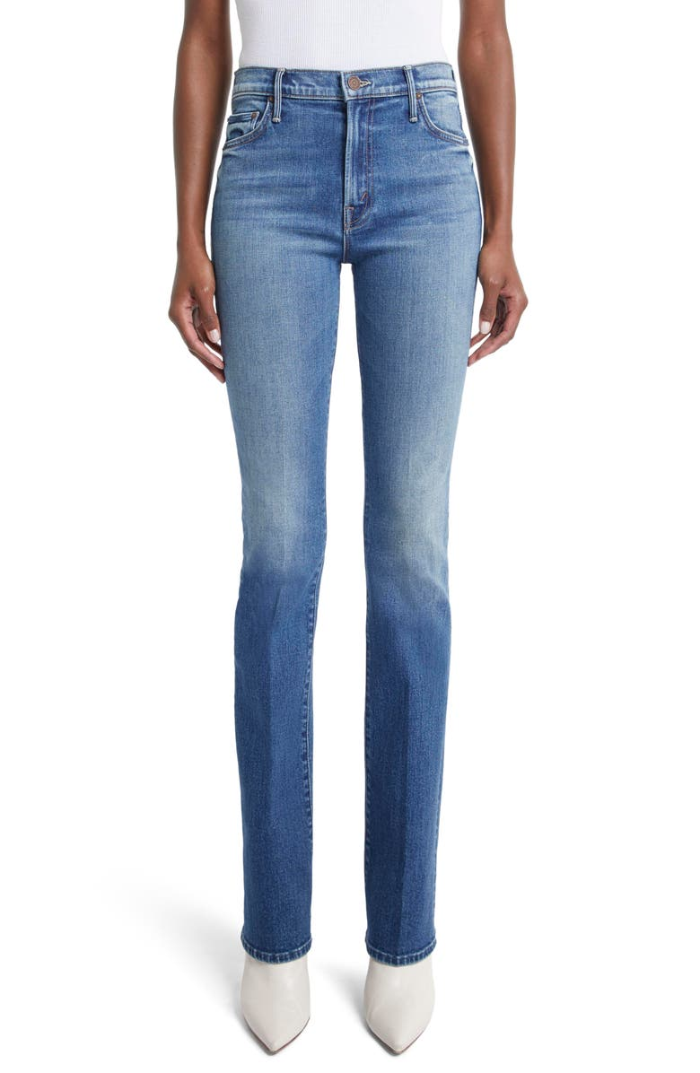 MOTHER The Insider High Waist Bootcut Jeans, Main, color, SO LONG