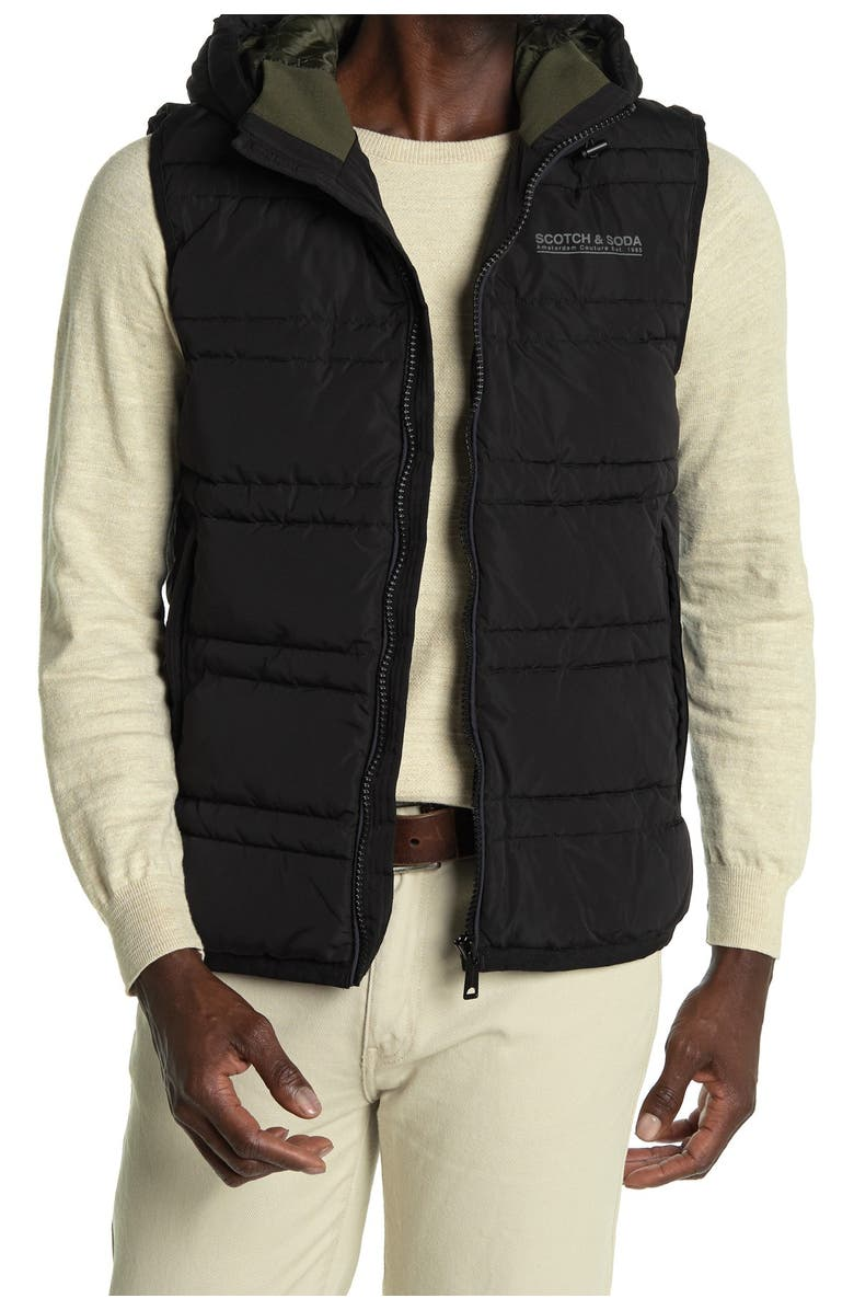 SCOTCH & SODA Hooded PrimaLoft<sup>®</sup> Vest, Main, color, 002