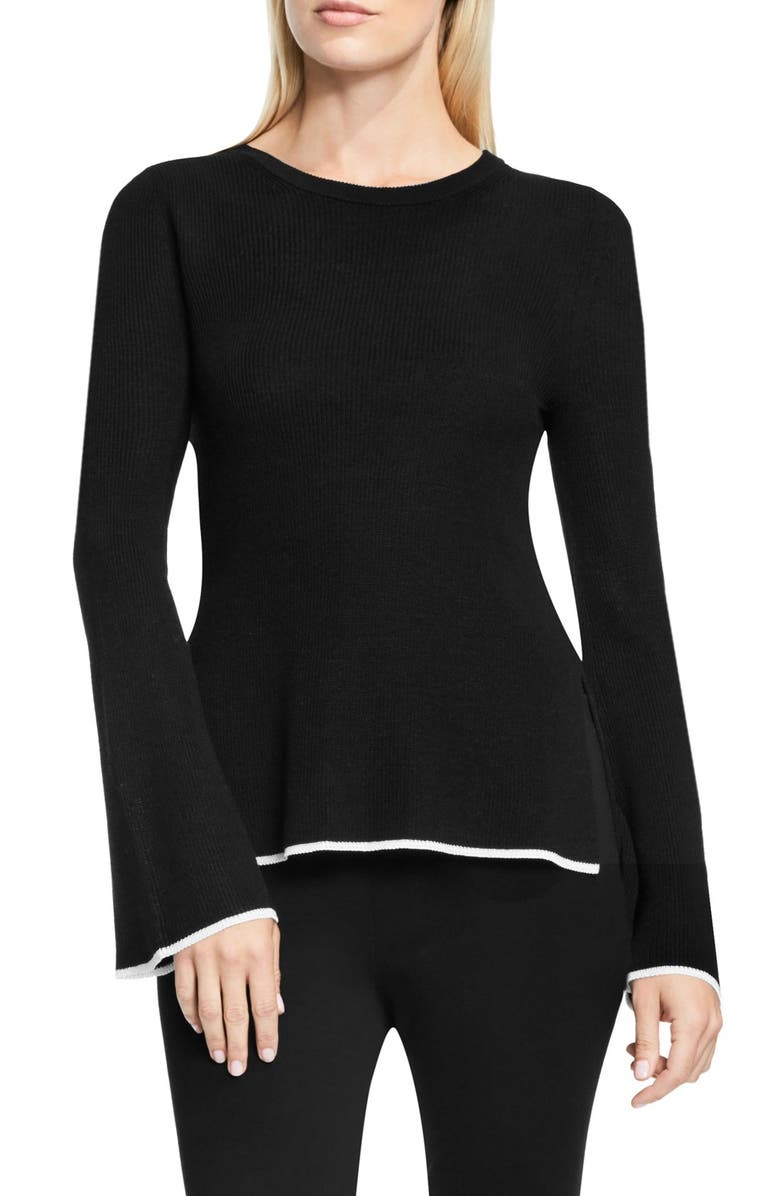 VINCE CAMUTO Bell Sleeve Sweater, Main, color, 006