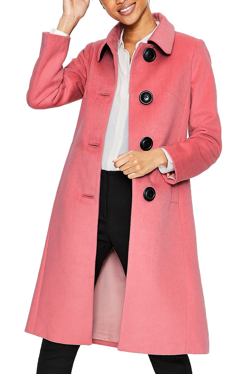 BODEN Conwy Wool Blend Coat, Main, color, BLUSH