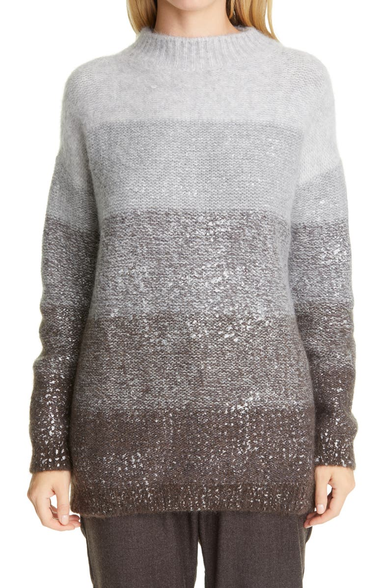 FABIANA FILIPPI Ombré Wool Blend Sweater, Main, color, Grey