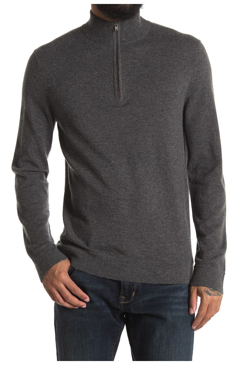 THEORY Donners Mock Neck Cashmere Sweater, Main, color, CHARCOAL