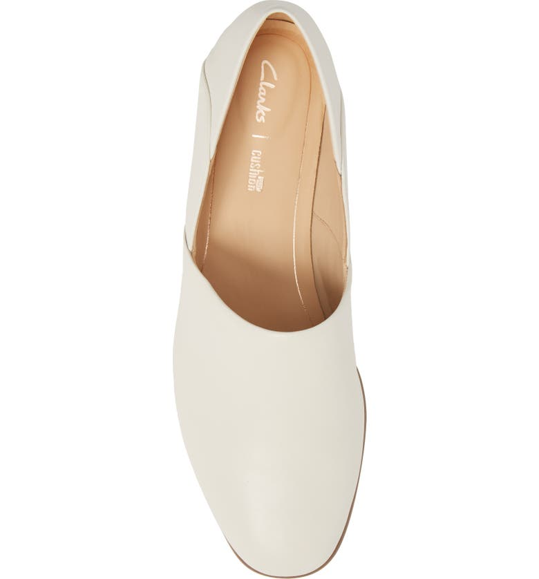 CLARKS<SUP>®</SUP> Pure Viola Flat, Main, color, WHITE LEATHER