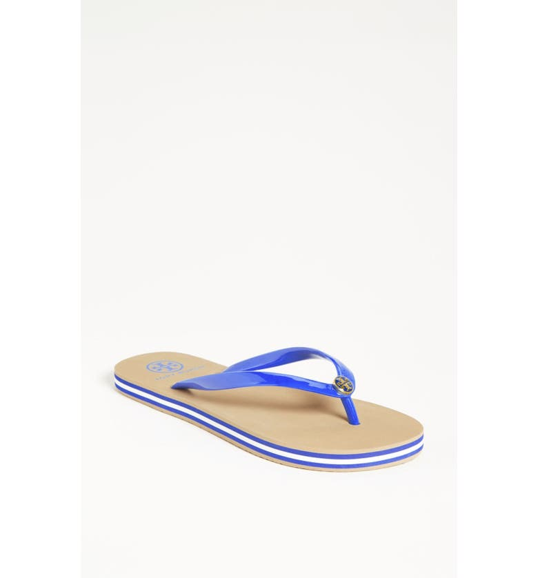 TORY BURCH Striped Sole Thong Sandal, Main, color, 404