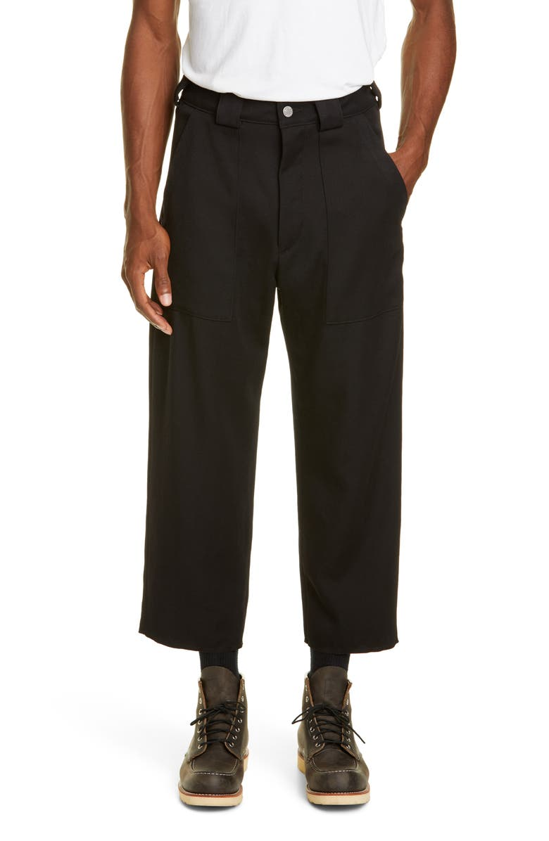 BILLY LOS ANGELES Cropped Wool Pants, Main, color, 001