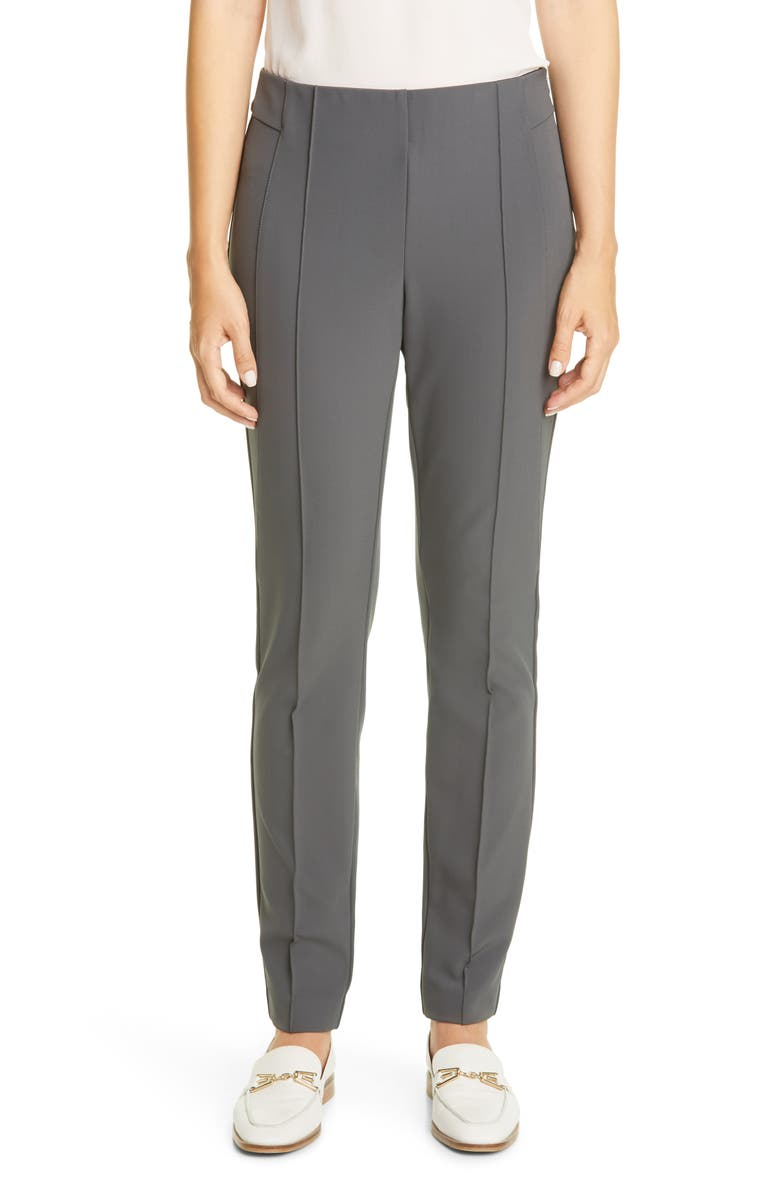 LAFAYETTE 148 NEW YORK Gramercy Acclaimed Stretch Pants, Main, color, SEAL