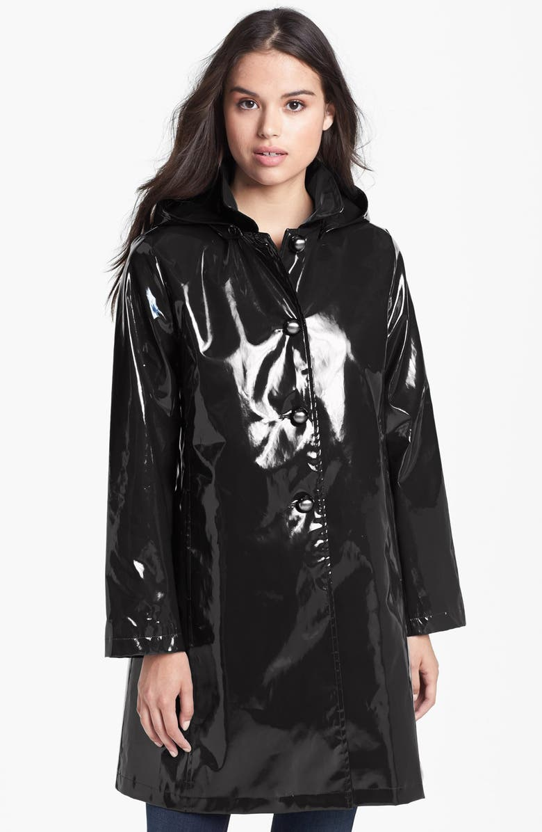 JANE POST 'Princess' Rain Slicker with Detachable Hood, Main, color, 001