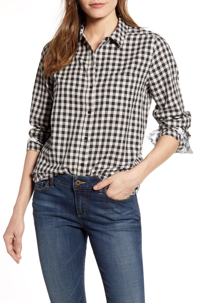 LUCKY BRAND Check One-Pocket Shirt, Main, color, 001