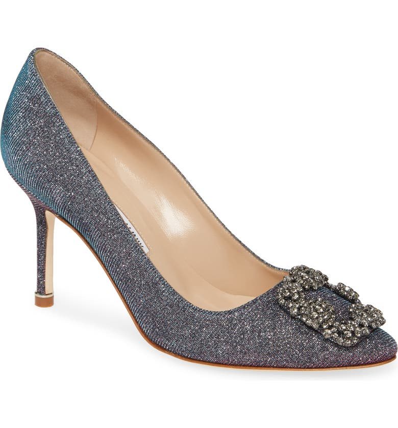 MANOLO BLAHNIK Hangisi Metallic Pump, Main, color, 040