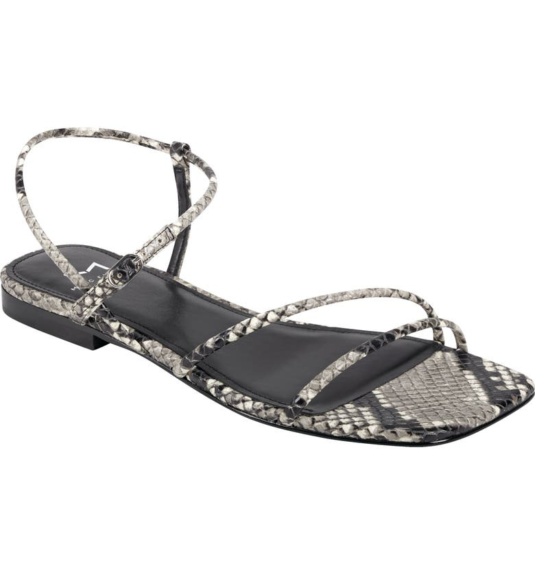 MARC FISHER LTD Marg Sandal, Main, color, GREY SNAKE PRINT