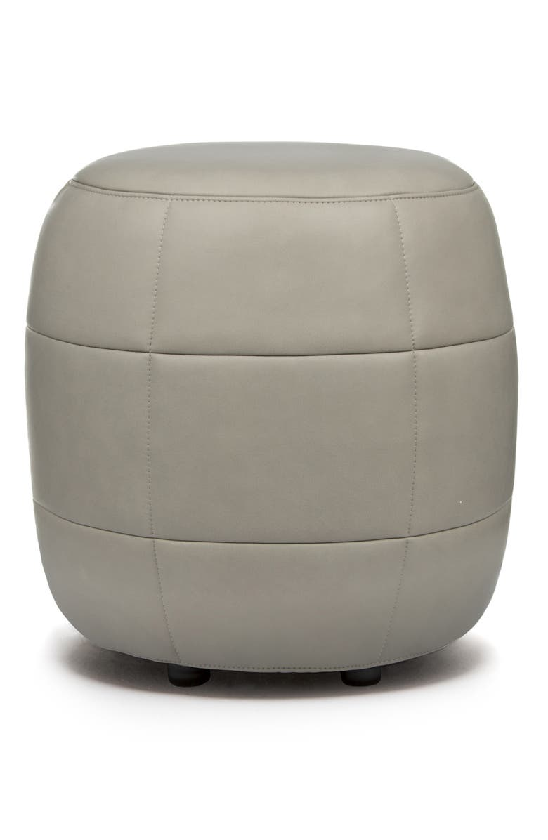 DESIGN ON STOCK USA Barrell Leather Stool, Main, color, 020