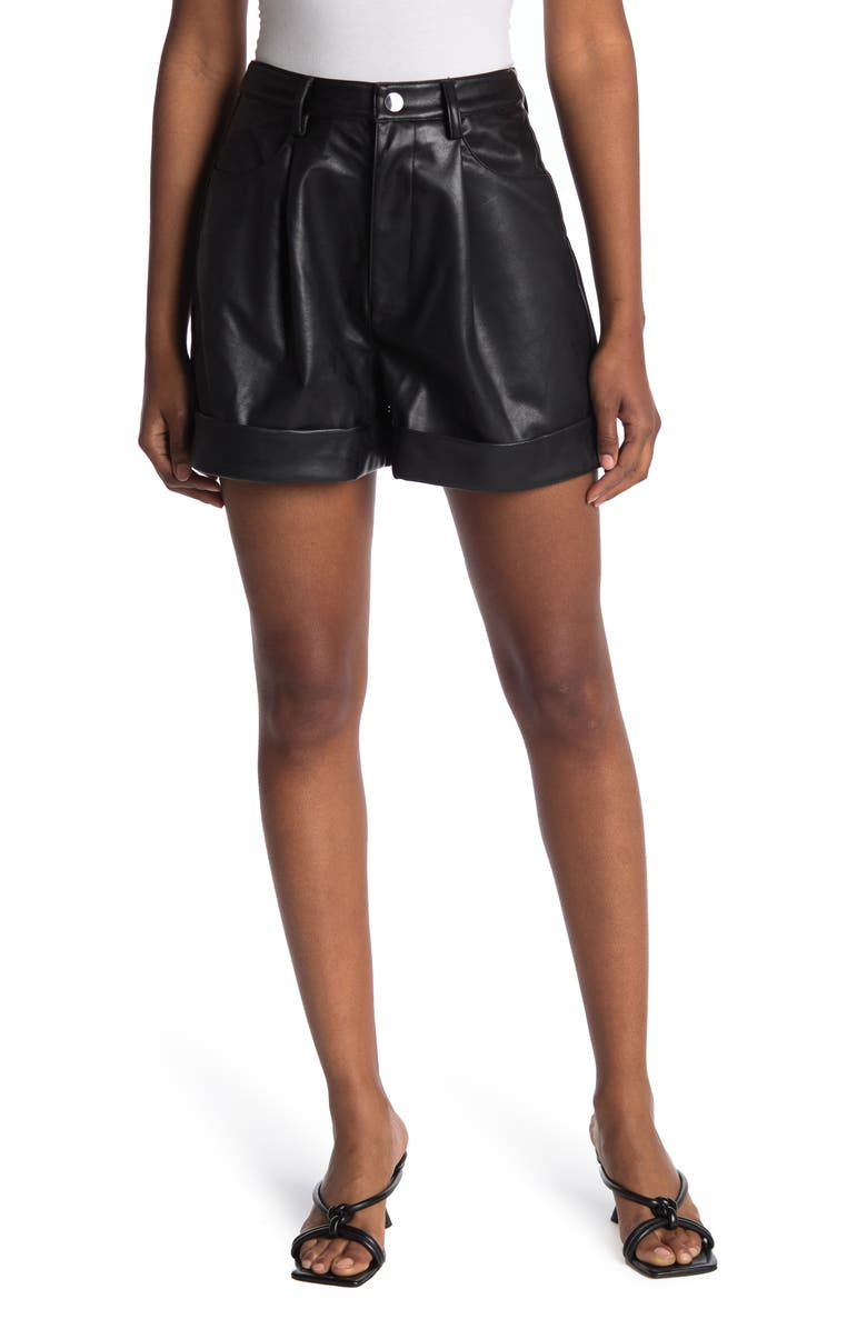 WEWOREWHAT Cuffed Solid Shorts, Main, color, BLACK