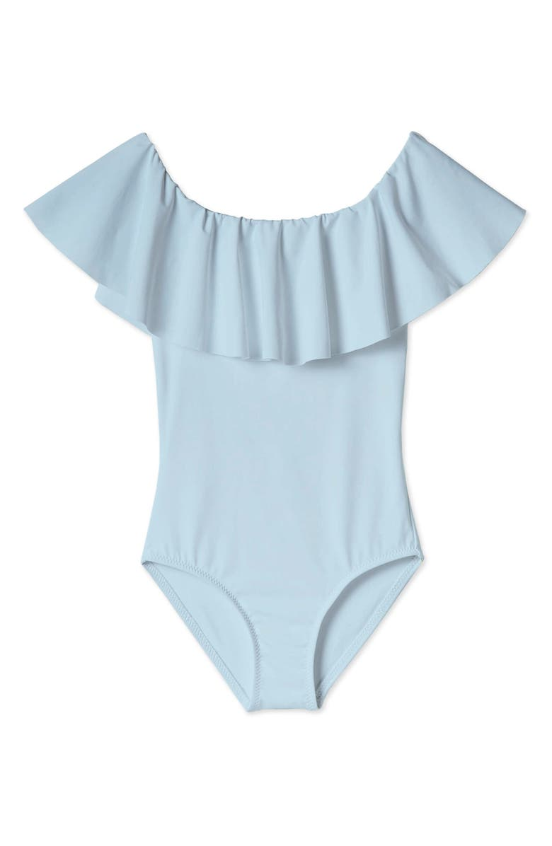 STELLA COVE Ruffled One-Piece Swimsuit, Main, color, BLUE