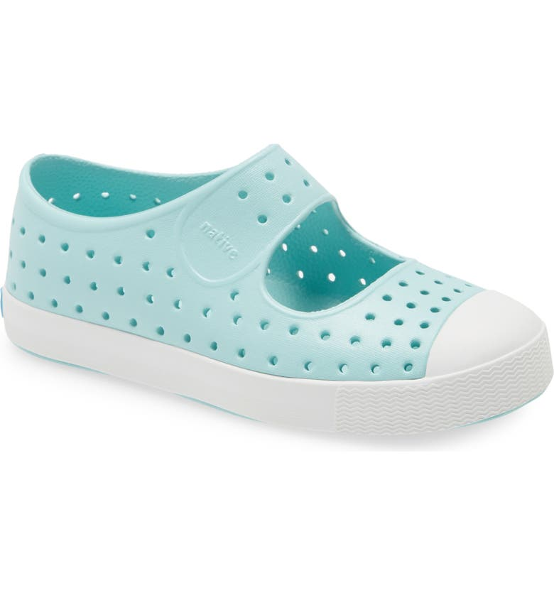 NATIVE SHOES Juniper Perforated Mary Jane, Main, color, PIEDMONT BLUE / SHELL WHITE