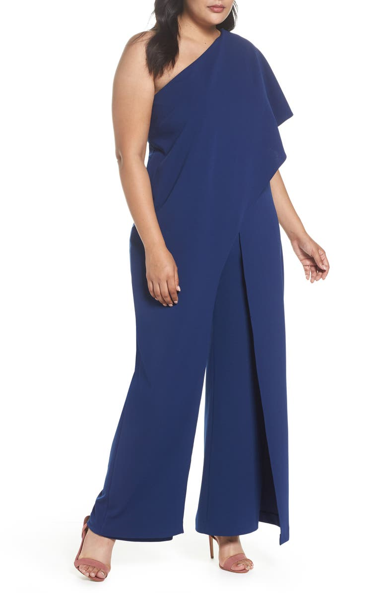 ADRIANNA PAPELL One-Shoulder Jumpsuit, Main, color, 412