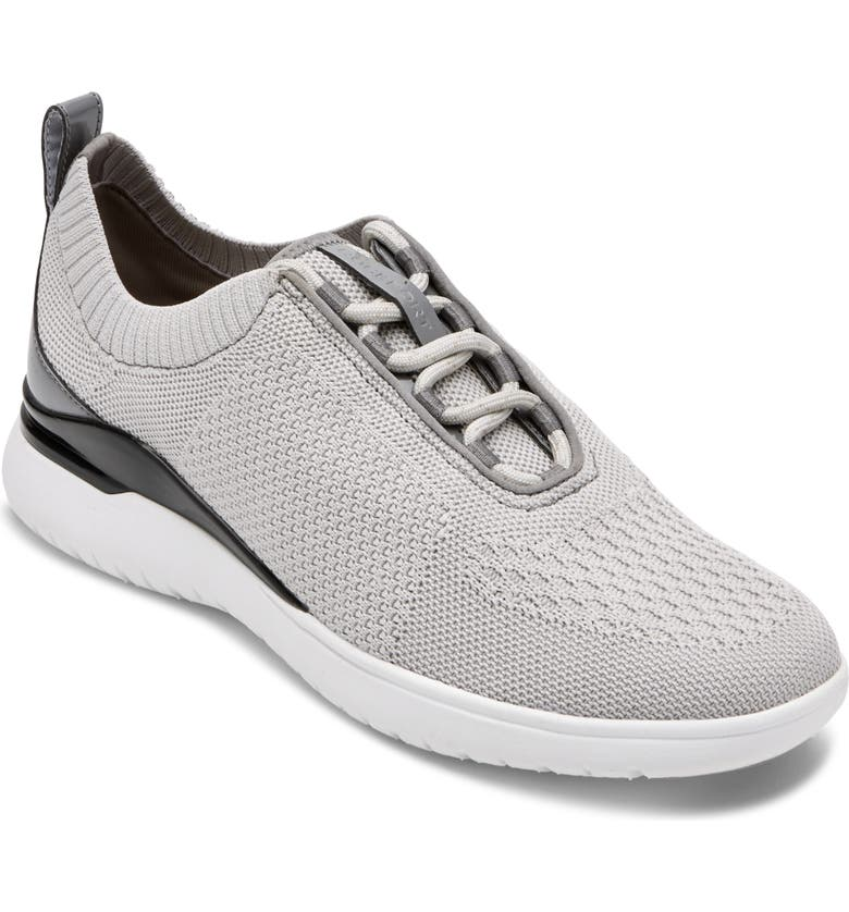 ROCKPORT Total Motion Sport Knit Sneaker, Main, color, GREY KNIT FABRIC