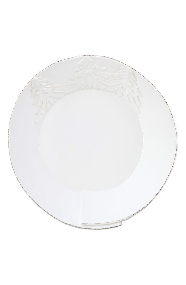 VIETRI Lastra Winterland Shallow Bowl, Main, color, WHITE