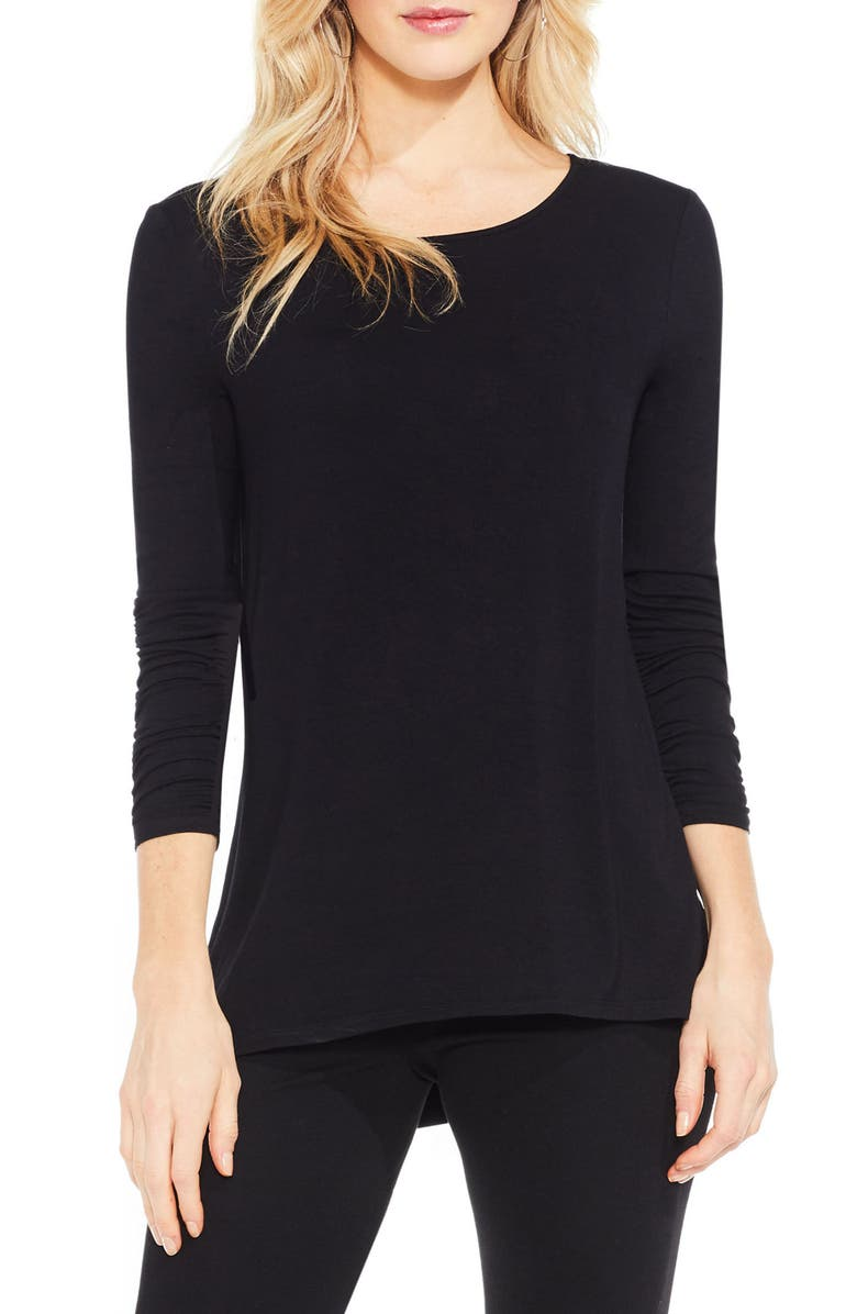 VINCE CAMUTO Ruched Sleeve Top, Main, color, 006