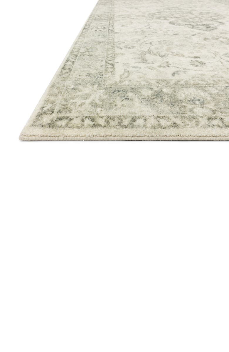 LOLOI II Rosette Collection Rug - Ivory/Silver - 5' x 8', Main, color, IVORY / SILVER
