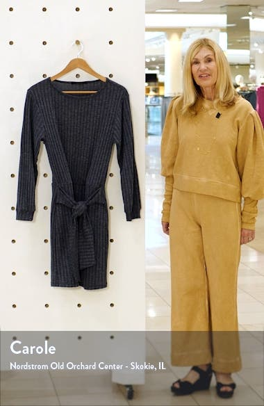 Tie Front Long Sleeve Dress, sales video thumbnail