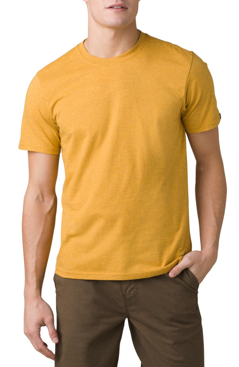 PRANA Tall Fit Crewneck T-Shirt, Main, color, MARIGOLD HEATHER