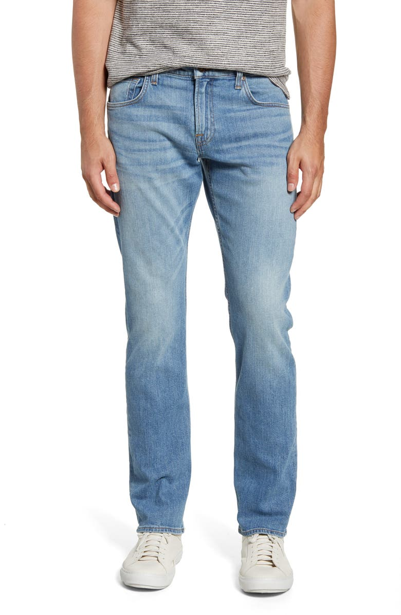 7 FOR ALL MANKIND<SUP>®</SUP> The Straight Slim Straight Leg Jeans, Main, color, 409