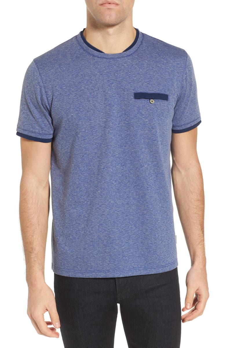 TED BAKER LONDON Climb Mouline Layered Pocket T-Shirt, Main, color, 421