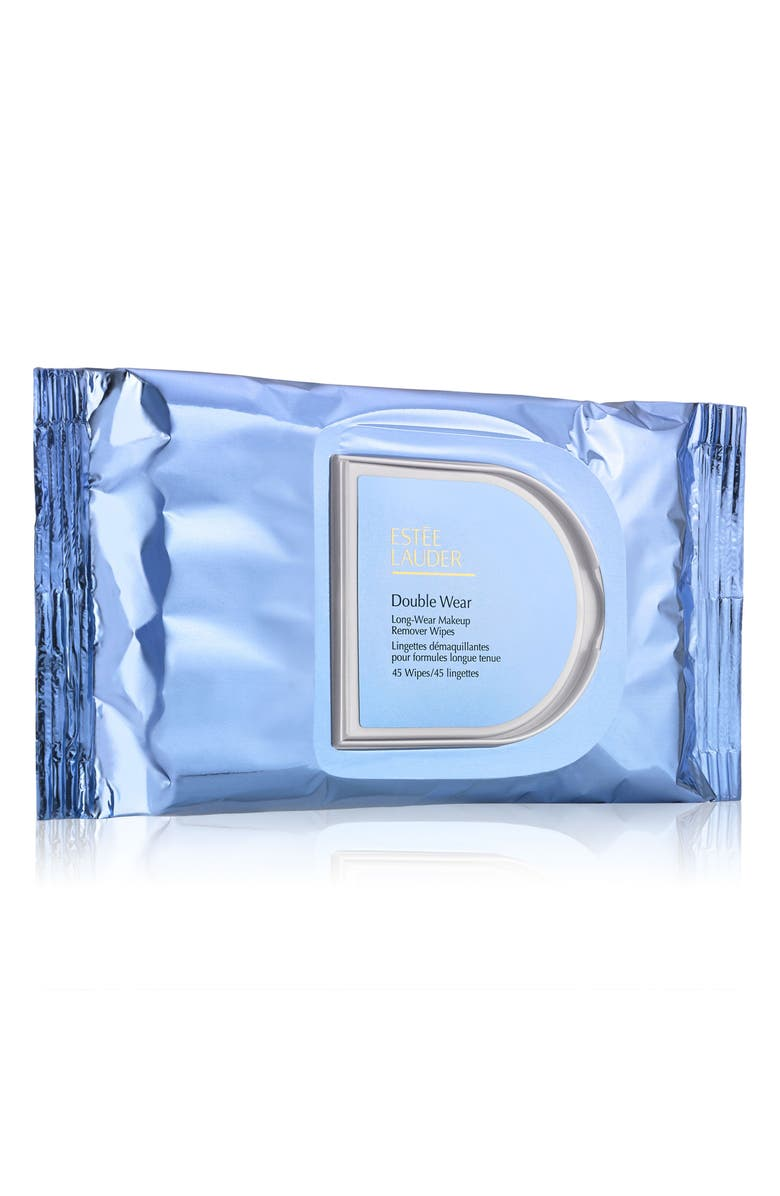 ESTÉE LAUDER Double Wear Long-Wear Makeup Remover Wipes, Main, color, NO COLOR