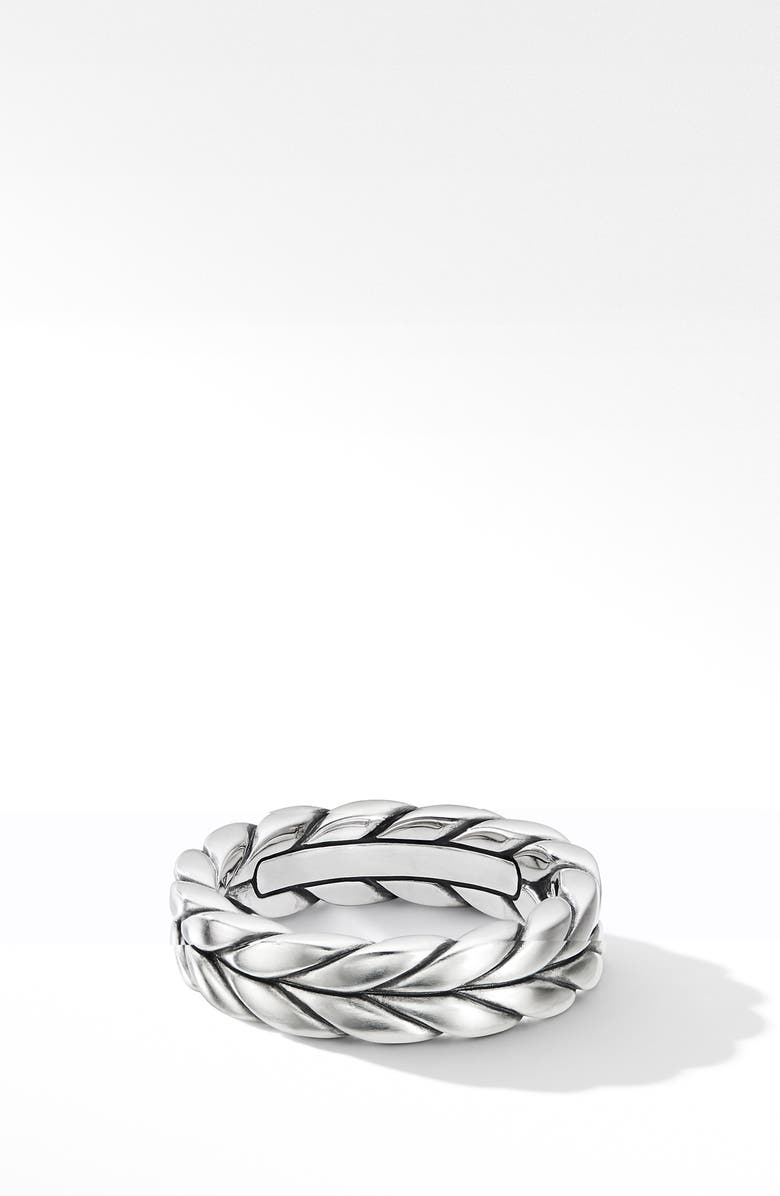 DAVID YURMAN Chevron Woven Band Ring, Main, color, Silver