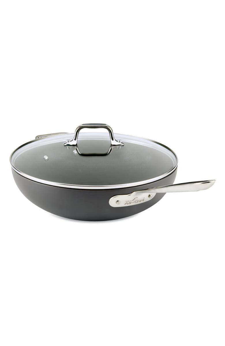 ALL-CLAD 12-Inch Hard Anodized Aluminum Nonstick Chef's Pan, Main, color, 001