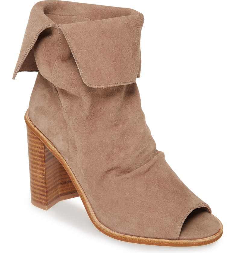 42 GOLD Ramada Peep Toe Bootie, Main, color, SILVER TAUPE SUEDE