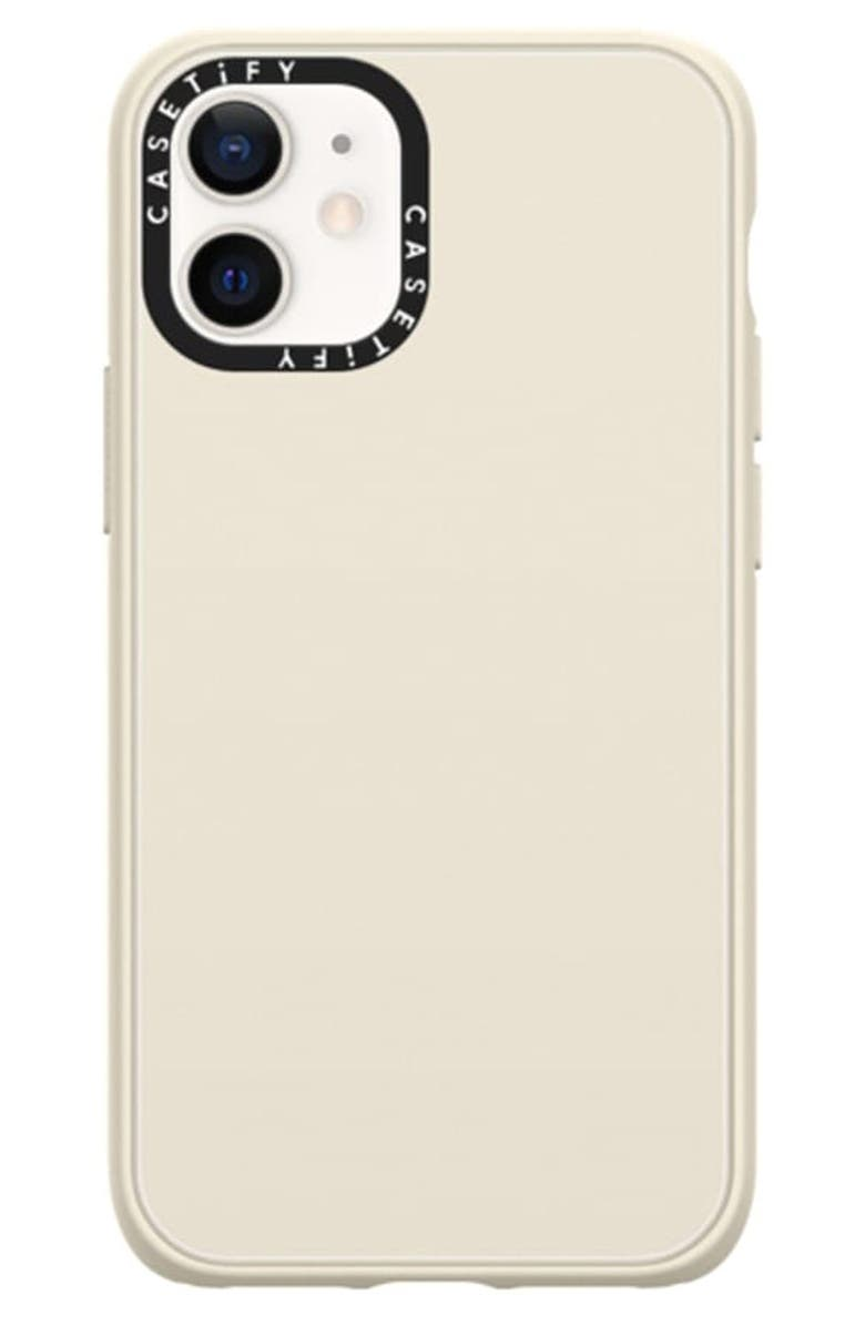 CASETIFY Solid Impact iPhone 12 Mini Case, Main, color, MATTE WHITE SAND
