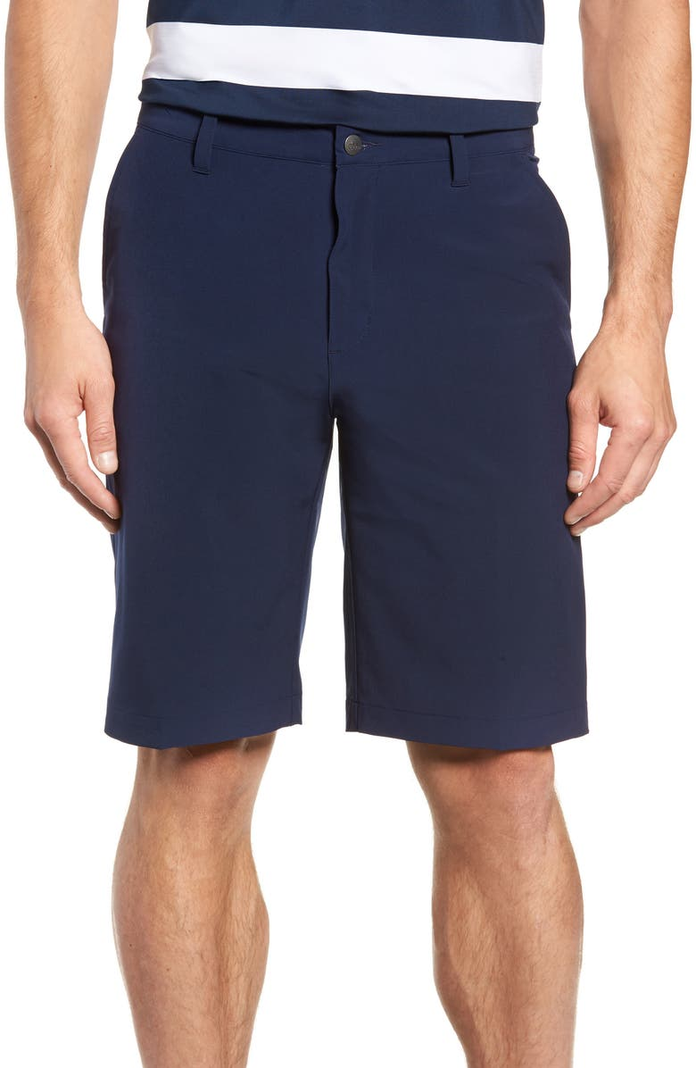 ADIDAS GOLF Ultimate365 Water Resistant Performance Shorts, Main, color, NAVY