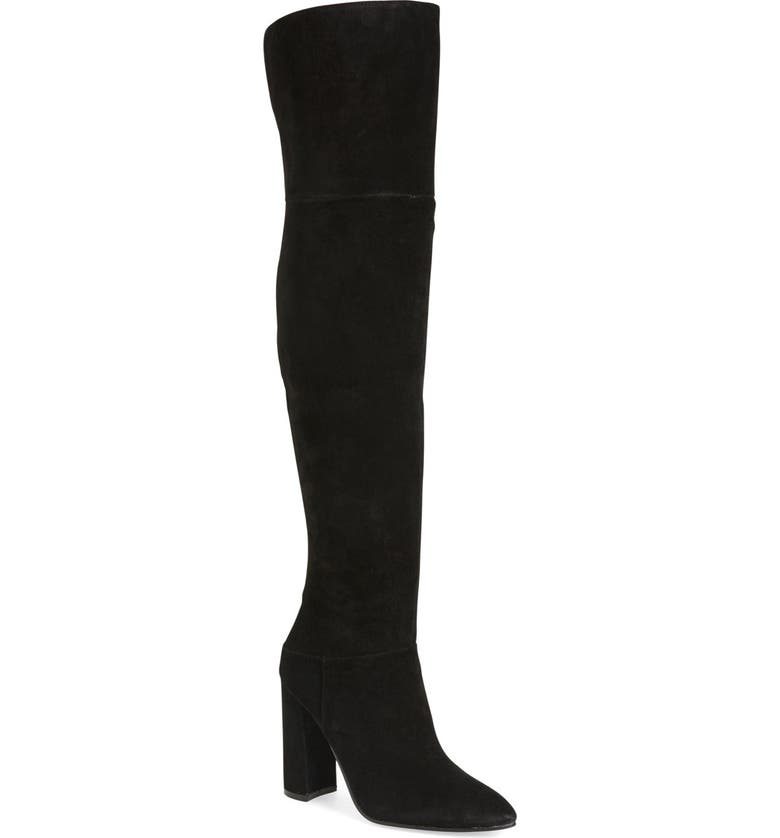 MARC FISHER LTD Breley Over the Knee Boot, Main, color, BLACK SUEDE