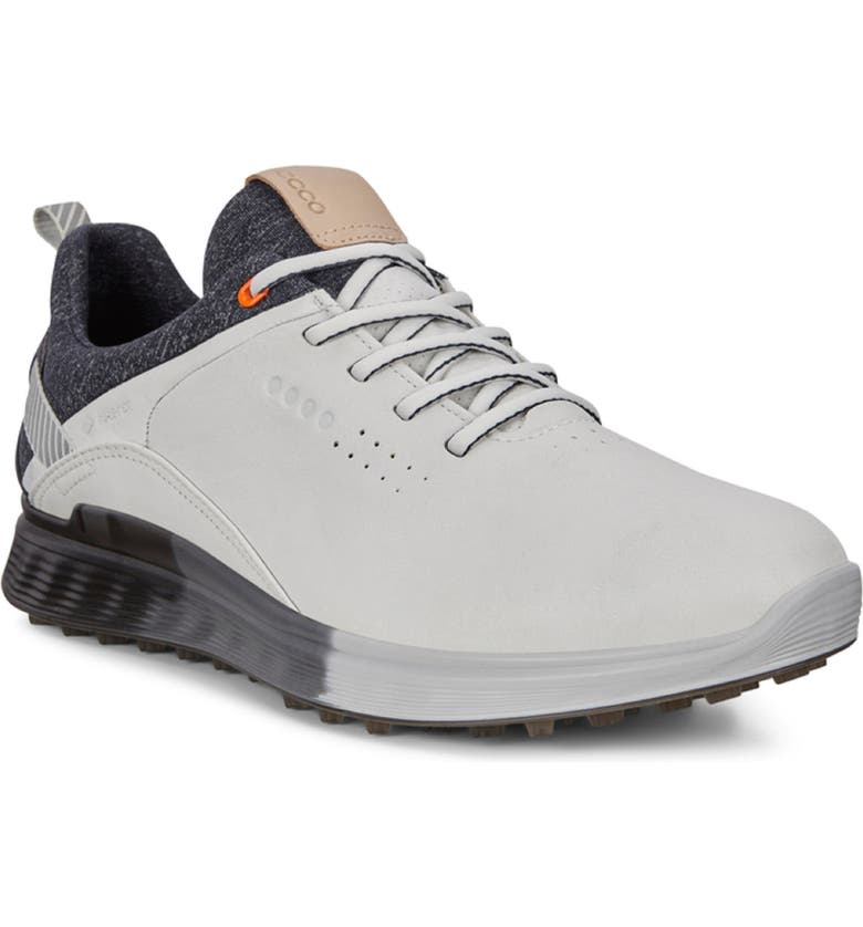 ECCO S-Three Waterproof Golf Shoe, Main, color, WHITE