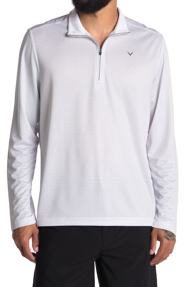 CALLAWAY GOLF 1/4 Zip Light Weight Active Jacket, Main, color, BRIGHT WHITE