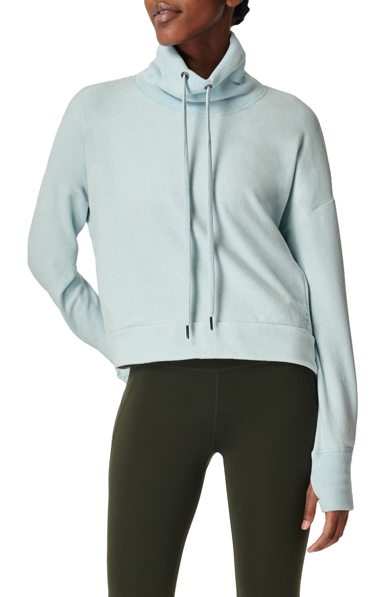 SWEATY BETTY Harmonise Luxe Sweatshirt, Main, color, ICE BLUE