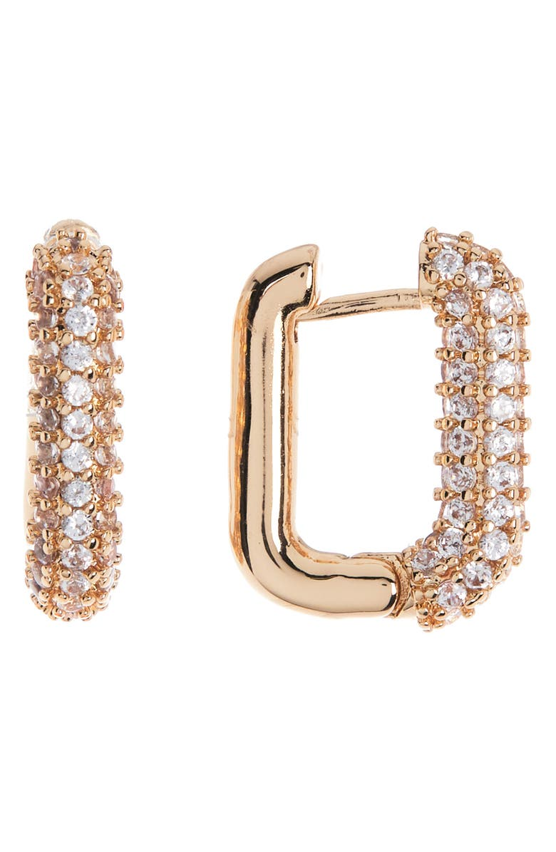 8 OTHER REASONS Sparkling Huggie Earrings, Main, color, GOLD