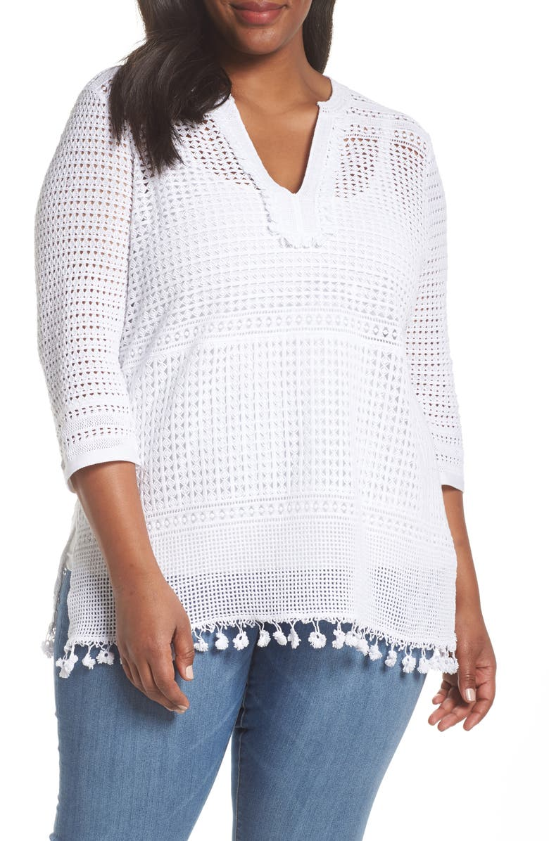NIC+ZOE Right on Track Tunic Sweater, Main, color, 123