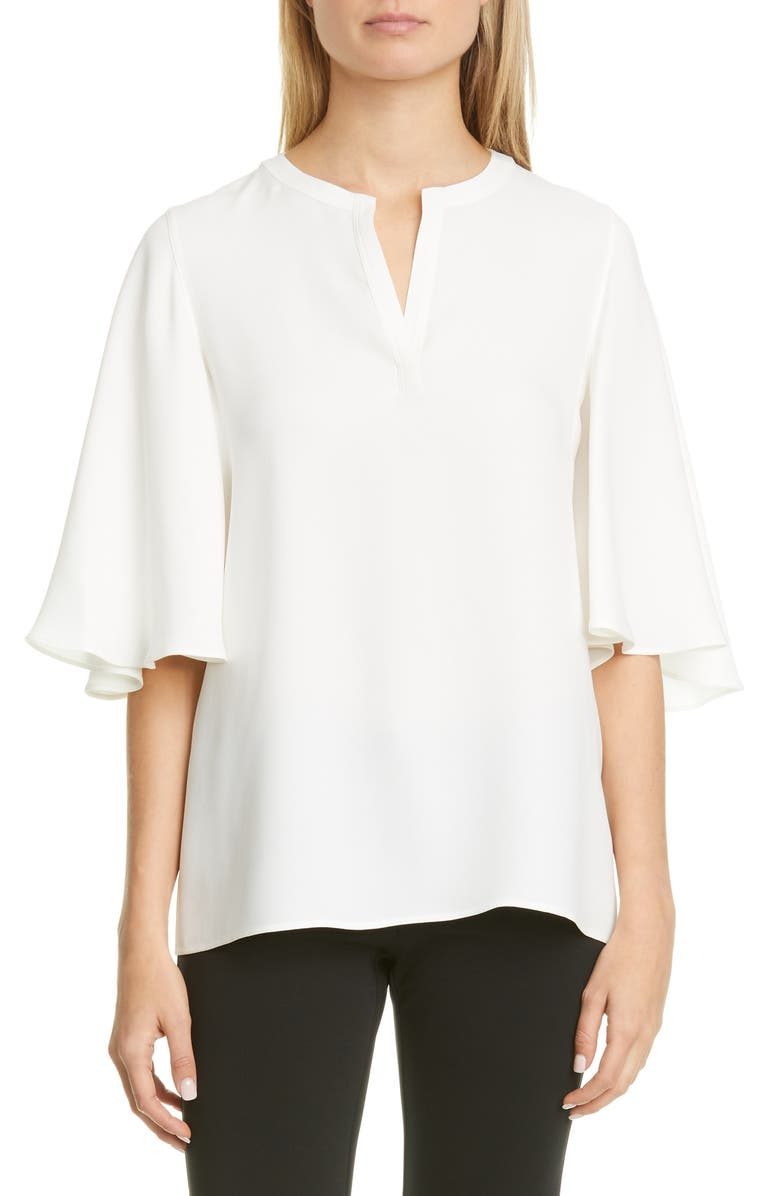 LAFAYETTE 148 NEW YORK Barker Silk Georgette Blouse, Main, color, 141