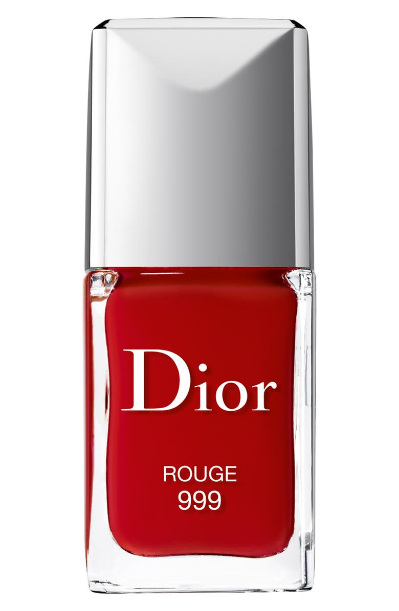 DIOR Vernis Gel Shine & Long Wear Nail Lacquer, Main, color, 999 ROUGE 999