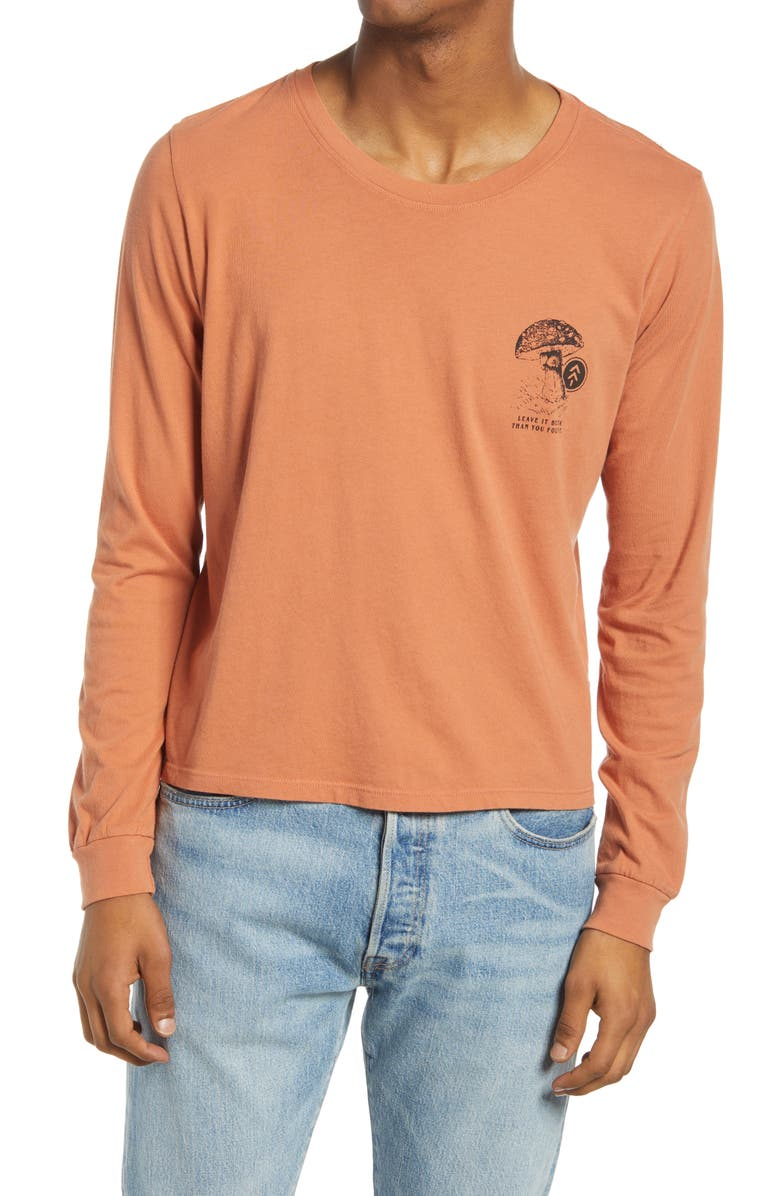 PARKS PROJECT Leave It Better Than You Found It Men's Long Sleeve Graphic Tee, Main, color, ORANGE