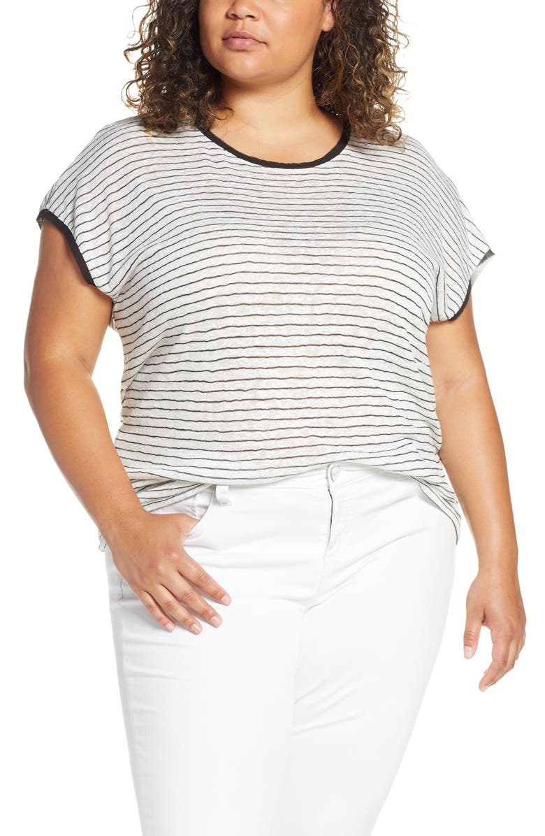 BOBEAU Therese Scooped Neck Tee, Main, color, 001