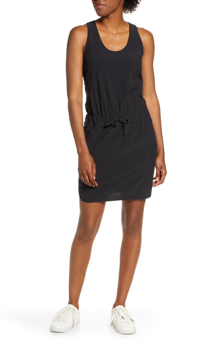 PATAGONIA Fleetwith Drawcord Dress, Main, color, BLACK