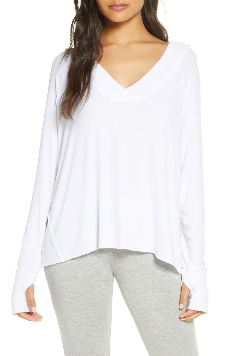 FELINA Essentials Ribbed Top, Main, color, WHITE