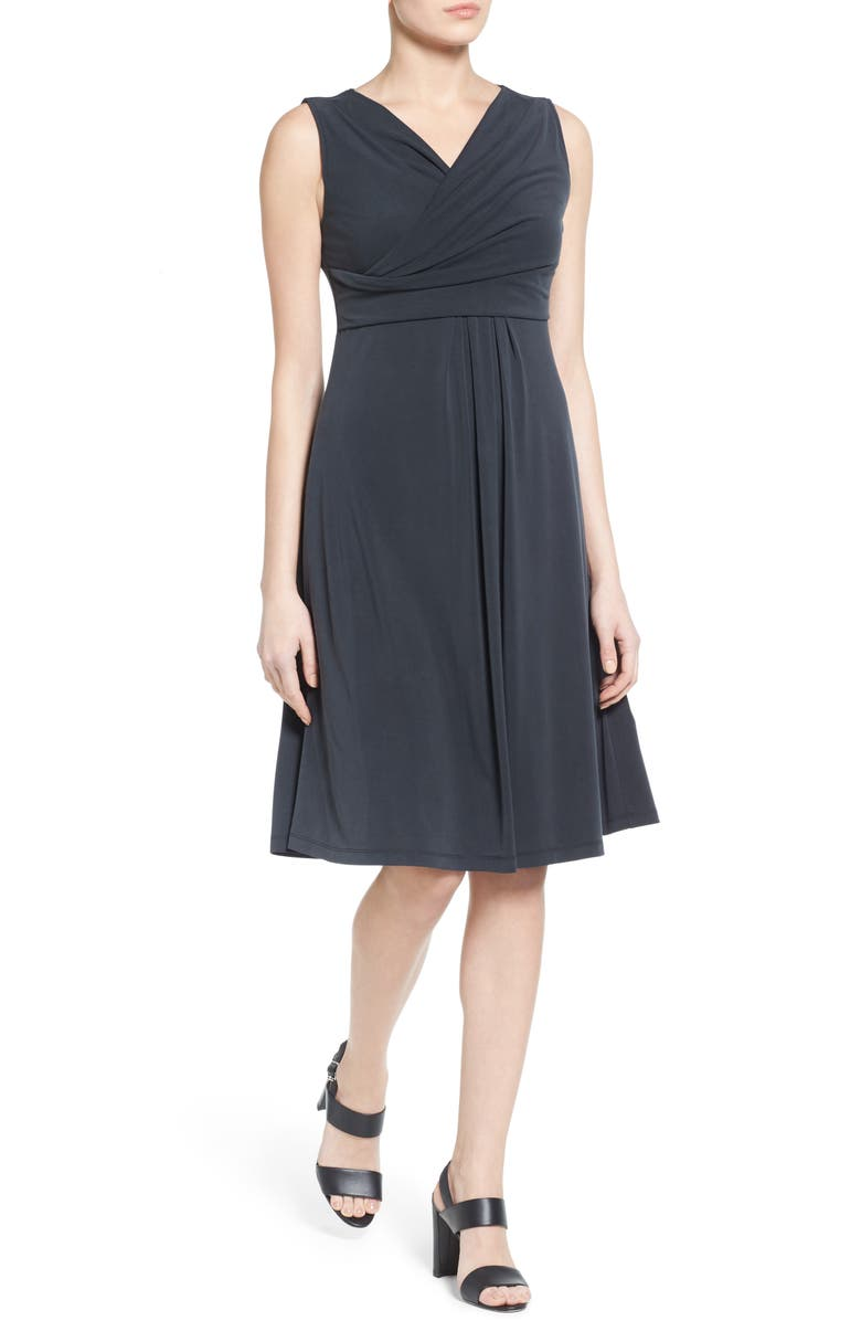 NIC+ZOE City Retreat Surplice Fit & Flare Dress, Main, color, 004