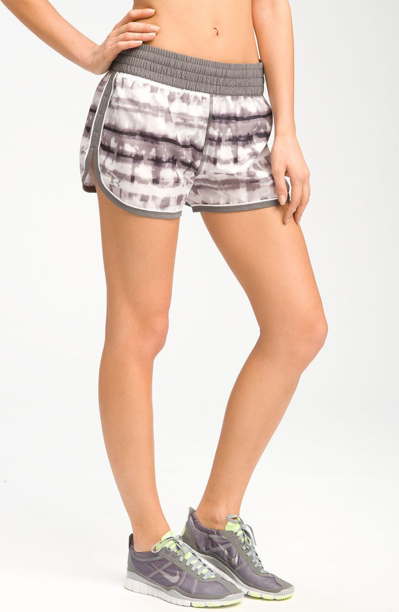 UNDER ARMOUR 'Great Escape' Print Running Shorts, Main, color, 041