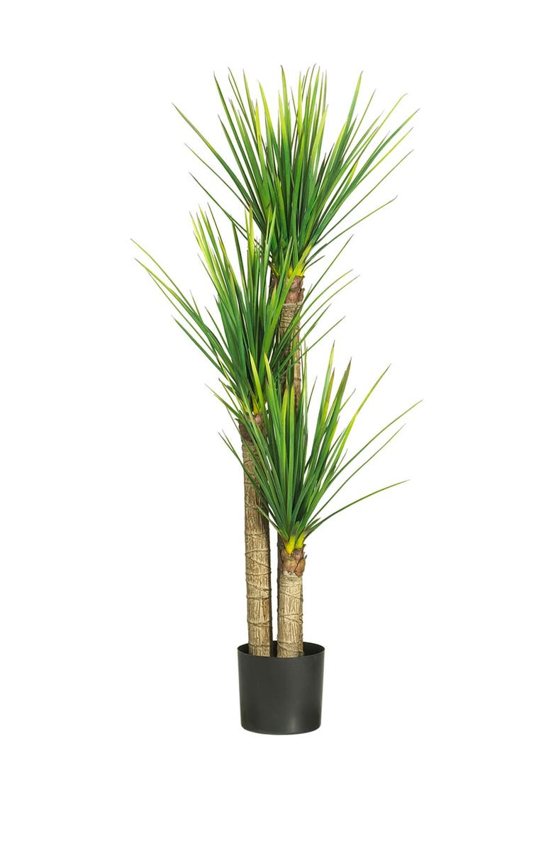 NEARLY NATURAL 58.5in. Yucca Silk Tree, Main, color, GREEN