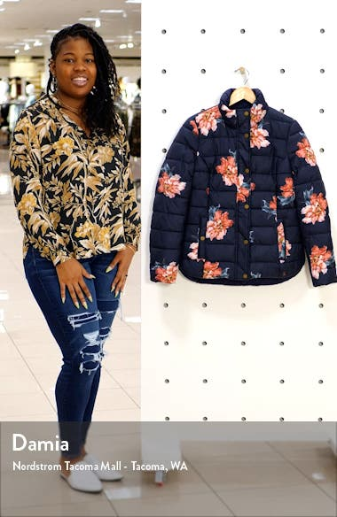 Highgrove Reversible Quilted Floral Puffer Jacket, sales video thumbnail